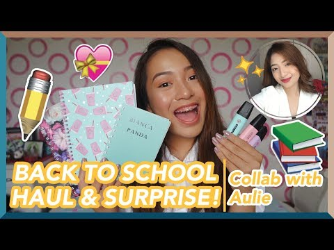 BACK TO SCHOOL HAUL & SURPRISE | Collab With AULIE SECERIO | Philippines (Bianca Magsino)