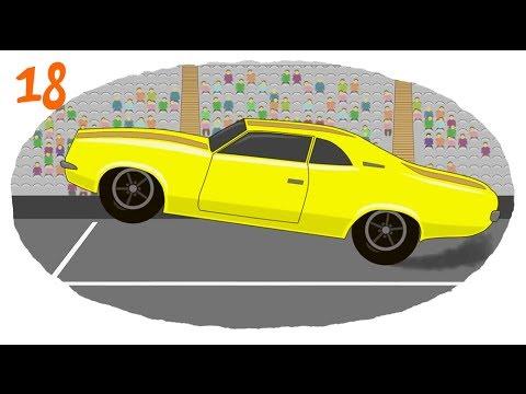 Раскраска про гоночные машины
