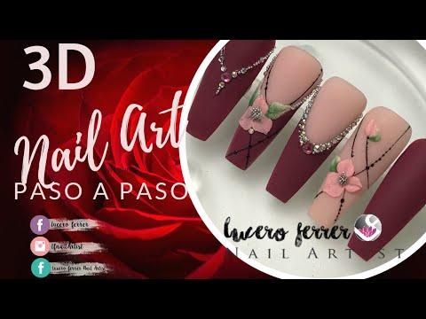 Uñas acrilicas - 3D Nail Art (uñas acrílicas 2019)