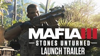 Available May 30, Stones Unturned is the second of three DLC releases, available individually or collectively as part of the Season Pass.Fight alongside John Donovan and protect the free world! Bound by a brotherhood forged in Vietnam, John Donovan never hesitated to answer Lincoln Clay's call for revenge. Lincoln will return the favor when Connor Aldridge, a traitor who once left Donovan for dead, resurfaces to violently upend New Bordeaux in search of highly volatile lost cargo. To stop him, Lincoln and Donovan must fight Aldridge's mercenary army side-by-side. Engage heavy weapons, turreted vehicles, sniper support and unique rewards to thwart Aldridge and protect the free world.COLD WAR ARMS RACEDonovan and Lincoln forged their friendship in the war-torn jungles of Vietnam. There, turncoat operative Connor Aldridge betrayed Donovan and left him for dead. Now that Aldridge has resurfaced in New Bordeaux looking for a downed military plane and its dangerous cargo, Donovan and Lincoln must team up to stop his mercenary army.TROUBLE OFF THE NEW BORDEAUX COASTFollow Aldridge's path of destruction through all new locations in New Bordeaux and traverse mercenary-infested jungles to breach their fortified island stronghold.MILITARY-GRADE TOOLS OF THE TRADEEngage all new more powerful explosive weaponry, sniper support, heavily-outfitted military vehicles, and other unique unlockable items to defeat highly-trained mercenaries and take out Aldridge.THE MOST DANGEROUS GAMENew ally Robert Marshall operates a bounty hunting business in New Bordeaux. Use the all new dart gun to quietly subdue targets and stash them in your car's trunk for covert delivery.About Mafia III1968. New Bordeaux, Louisiana. The rules of organized crime have changed. After years of combat in Vietnam, Lincoln Clay knows this truth: Family isn't who you're born with, it's who you die for. When his surrogate family, the black mob, is slaughtered by the Italian Mafia, Lincoln builds a new family on the as