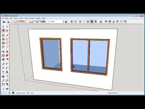 Sketchup How To Make Windows