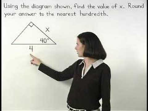 trigonometry - For a complete lesson on sin cos tan, go to http://www.MathHelp.com - 1000+ online math lessons featuring a personal math teacher inside every lesson! In thi...