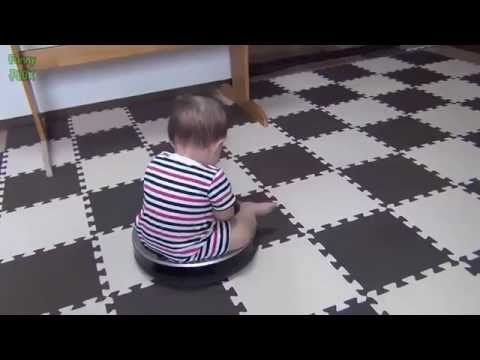 Cute Babies Riding Roomba Compilation 2015