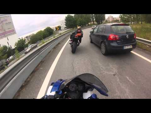 gsx r - Testing my new GoPro Hero 3 Silver Edition on my helmet.