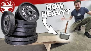 Video Tungsten Thor's Hammer (World's HEAVIEST) MP3, 3GP, MP4, WEBM, AVI, FLV Juni 2019