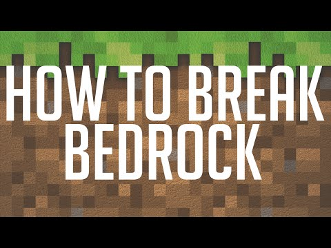 Minecraft: HOW TO BREAK BEDROCK! (Minecraft 1.8.1 Tutorial)