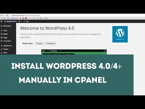 Install WordPress 4 or 4+ Manually in cPanel