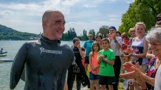 [VIDEO] Thierry Corbalan nage pour l'association SEPas Impossible