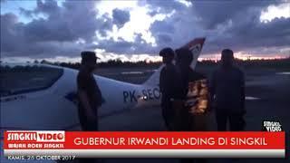 ACEH...GUBERNUR IRWANDI LANDING DI SINGKIL / SINGKIL VIDEO