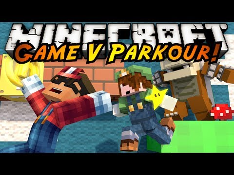 Minecraft Parkour : GAME V Part 2! (MARIO PARKOUR!)