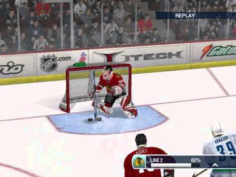 NHL Gameplay Chicago Black Hawks VS Vancouver Cannucks