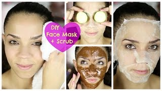 Ultimate DIY Face Mask + DIY Face Scrub for Acne, Oily Skin, Dry Skin, Black Heads - YouTube
