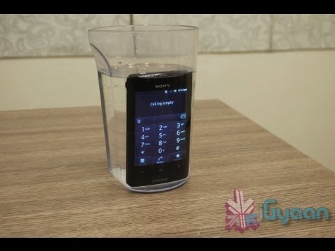 Sony Xperia Go Water and Dust Proof Unboxing and Hands on Review - iGyaan HD
