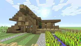Minecraft: How To Build A Small Survival House Tutorial (Easy survival cabin ) (cottage) 2016