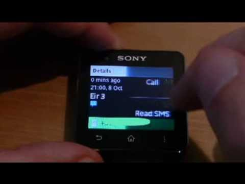 Video of SMS Reader/Log for SmartWatch