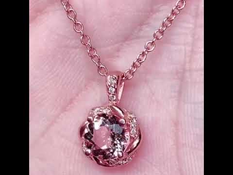 Pink Morganite Necklace