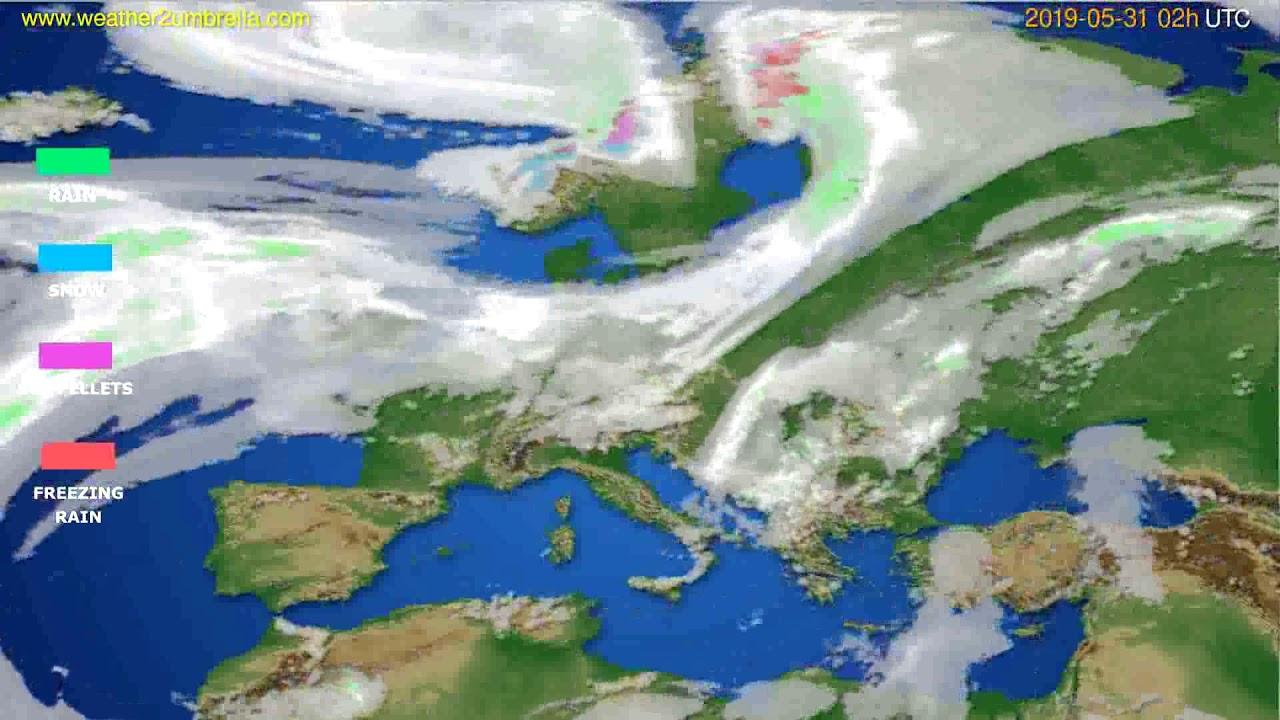 Precipitation forecast Europe // modelrun: 12h UTC 2019-05-28