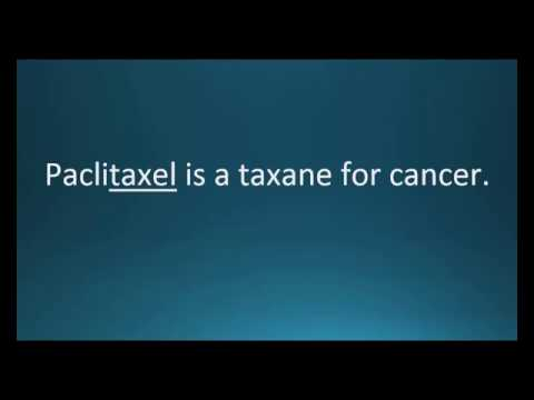 How to pronounce paclitaxel (Taxol) (Memorizing Pharmacology Video Flashcard)