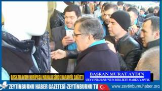 Başkan Murat Aydın Nuri Paşa Mahallesinde Karanfil Dağıttı