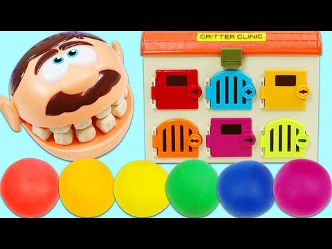 Learn Colors with Mr. Play Doh Head Finding Keys in Rainbow Play Doh Balls!