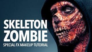 Skeleton zombie special fx makeup tutorial
