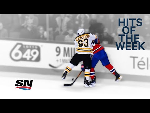 Video: Hits of the Week: Marchand bulldogs Drouin