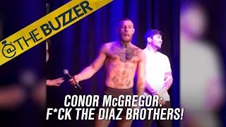 Conor McGregor had a message for the Diaz Brothers at his UFC 202 open workout by @The Buzzer