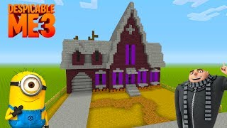 """Minecraft Tutorial: How To Make Grus House From Despicable Me """"Despicable me 3"""""""