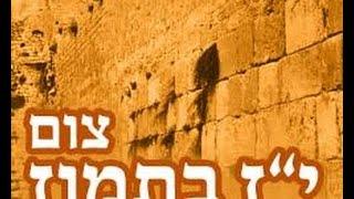 הרב יצחק לסרי – צום שבעה עשר בתמוז