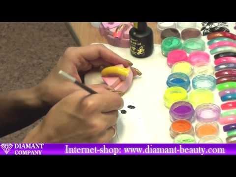 Дизайн ногтей с пигментами видео уроки