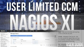 User limited CCM access in Nagios XI