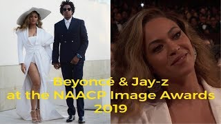 Beyoncé & Jay-z at the 2019 #NAACPImageAwards.