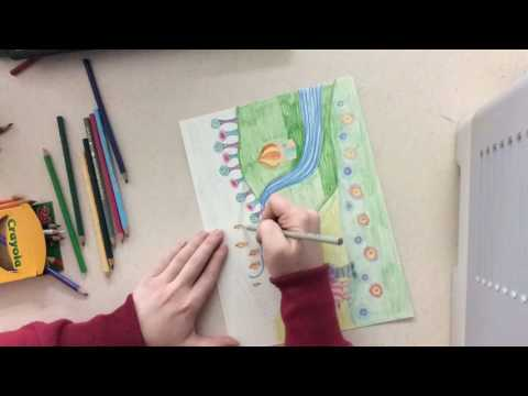 Hundertwasser Inspired Landscapes for 2nd Grade