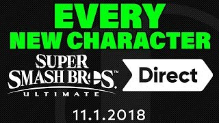 EVERY NEW SUPER SMASH BROS ULTIMATE CHARACTER WILL BE REVEALED NOV 1ST - Nintendo News by Verlisify