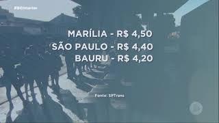 Está valendo a nova tarifa do transporte coletivo em Marília