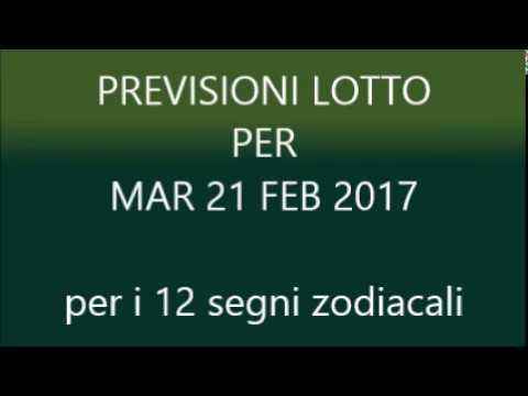 Previsioni per il Lotto ★ Estrazione Martedì 21 Febbraio 2017