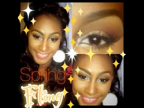 Get Ready With Me ♥ 2013 Spring Fling Trend! Coral & Natural Makeup Look