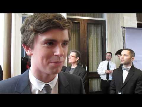 Gold Derby: Freddie Highmore ('Bates Motel') - Critics Choice Awards red carpet
