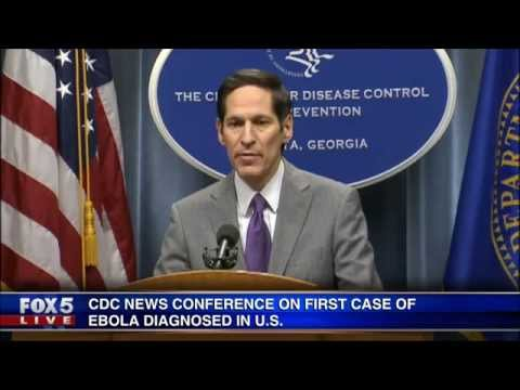 Conference - The Centers for Disease Control and Prevention holds a news conference in Atlanta, discussing the first domestic case of Ebola in the United States.