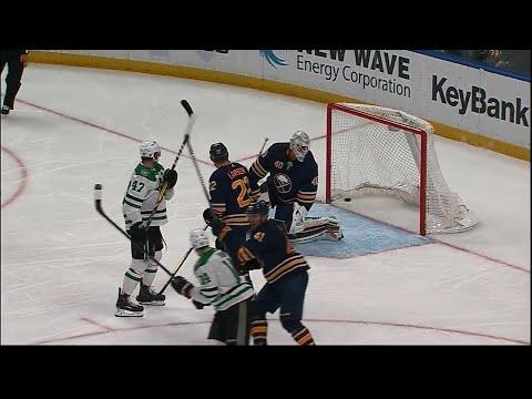 Video: Stars' Radulov redirects shot, chases Sabres' Lehner from game