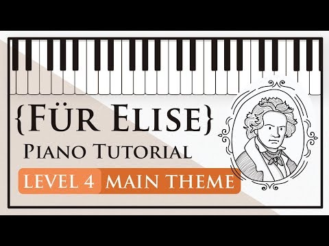 How to Play Für Elise (Beethoven) Original Main Theme - Level 4 Piano Tutorial - Hoffman Academy