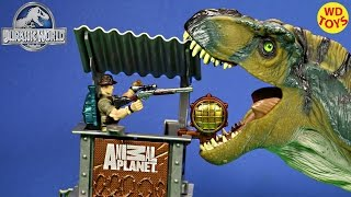 New Animal Planet T-Rex Dinosaur Invasion Set  Vs Bull T-Rex Jurassic Park Unboxing - WD Toys