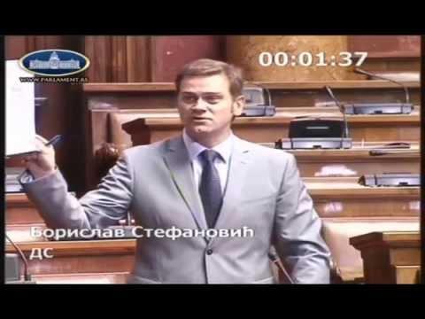 Борислав Стефановић на седници Скупштине о амандманима на измене Закона о високом образовању