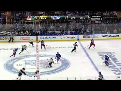 Johnny Boychuk snapshot goal 1-1 May 21 2013 Boston Bruins vs NY Rangers NHL Hockey_Ice hockey. NHL, National Hockey League best videos. Sport of USA, NHL