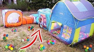 Ma Cabane Pliable, Parcours de Jeux & Bains de Boules - Outdoor Playground for kids