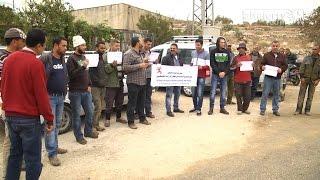 مزارعو كفر اللبد يعتصمون احتجاجا على نقص المياه في البلدة