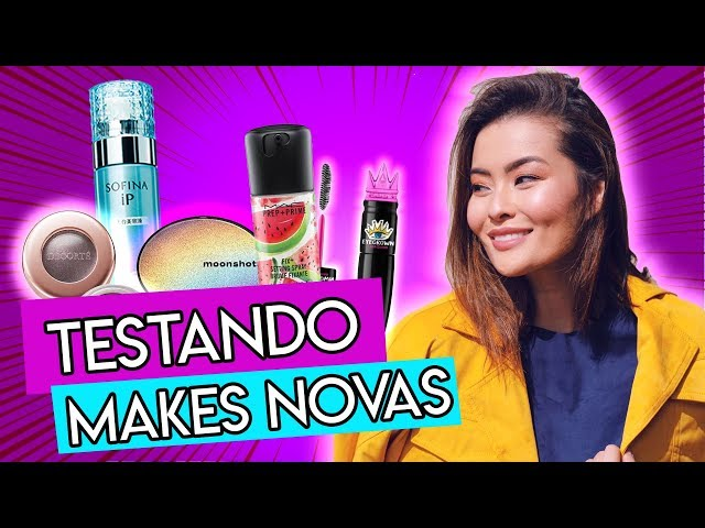 TESTANDO NOVIDADES  MAC MAKES COREANAS  TOO FACED ️ - Joyce Kitamura