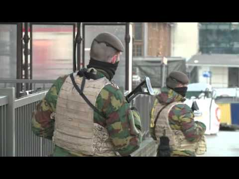 Brussels in third day of lockdown amid terror alert.