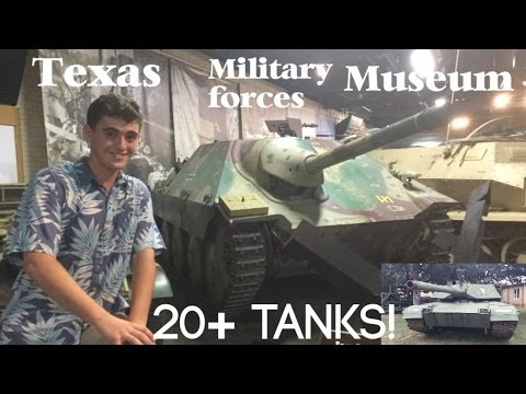 Texas Military Forces Museum 20+ Tanks!