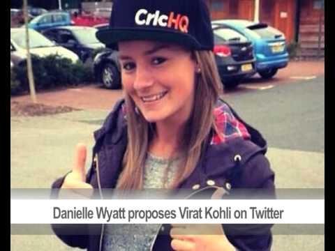 Danielle Wyatt proposes Virat Kohli on Twitter